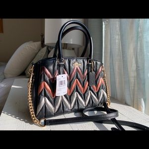 Coach NWT Leather Striped Ombré Bag